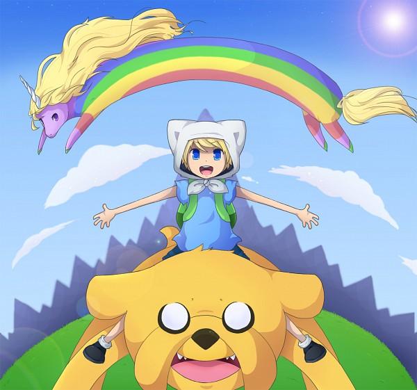 Tags: Anime, Akatsuki-perv, Adventure Time, Lady Rainicorn, Jake the Dog, Finn the Human, PNG Conversion, deviantART, Fanart From DeviantART, Fanart, Studios