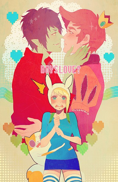 Tags: Anime, Mookie, Adventure Time, Cake the Cat, Marshall Lee the Vampire King, Fionna the Human Girl, Prince Bubba Gumball, Mini Crown, Yaoi Fan, Tumblr, deviantART, Fanart From DeviantART, Fanart From Tumblr