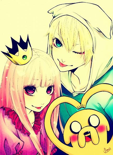 Tags: Anime, Cinnamonsao, Adventure Time, Finn the Human, Princess Bonnibel Bubblegum, Jake the Dog, Pink Skin, Mobile Wallpaper, deviantART, Studios