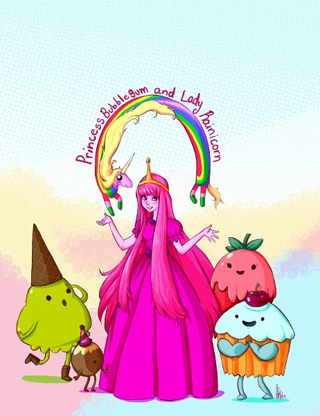 Tags: Anime, Cassandra Freire, Adventure Time, Princess Bonnibel Bubblegum, Lady Rainicorn, Pink Skin, Fanart, Fanart From DeviantART, deviantART