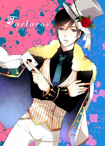 Tags: Anime, Kisaragi Kyo, Alice in Wonderland, Tartaros Online, Mad Hatter, Aelrot, Mobile Wallpaper, Fanart, Pixiv
