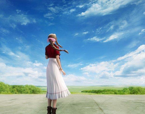 Tags: Anime, SQUARE ENIX, Final Fantasy VII, Final Fantasy VII Remake, Aerith Gainsborough, Key Visual, Official Art, 3D