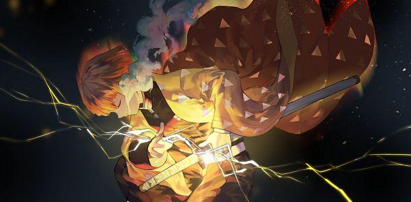 Tags: Anime, Salmon88, Kimetsu no Yaiba, Agatsuma Zenitsu, Fanart, Fanart From Pixiv, Pixiv