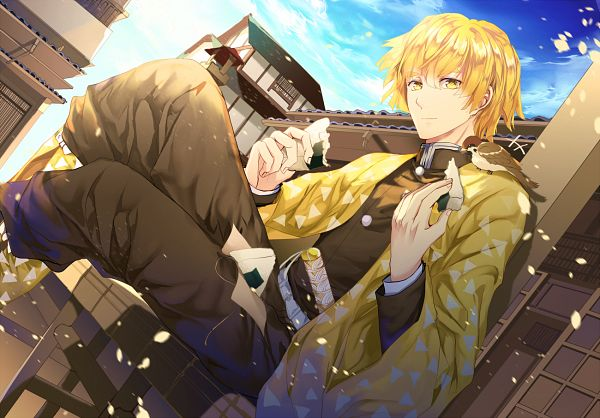Tags: Anime, Pixiv Id 3677982, Kimetsu no Yaiba, Agatsuma Zenitsu, Pixiv, Fanart, Fanart From Pixiv