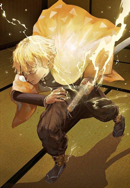 Tags: Anime, Pixiv Id 14048951, Kimetsu no Yaiba, Agatsuma Zenitsu, Fanart From Pixiv, Pixiv, Fanart
