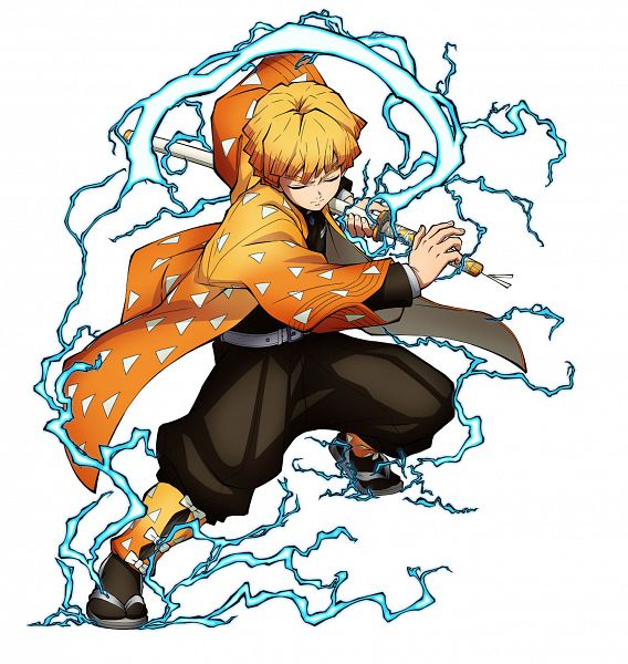 Tags: Anime, Matsushima Akira, CyberConnect2, Kimetsu no Yaiba, Kimetsu no Yaiba: Hinokami Chifuutan, Agatsuma Zenitsu, Twitter, Official Art