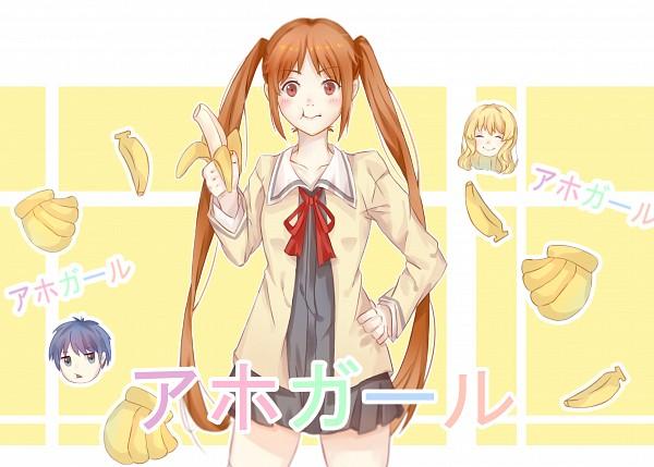 Tags: Anime, Pixiv Id 6082758, Aho Girl, Akutsu Akuru, Hanabatake Yoshiko, Fuuki Iinchou, Fanart, Fanart From Pixiv, Pixiv