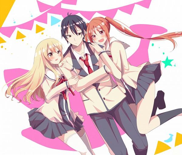Tags: Anime, Pixiv Id 1235257, Aho Girl, Sumino Sayaka, Akutsu Akuru, Hanabatake Yoshiko, Fanart From Pixiv, Pixiv, Fanart