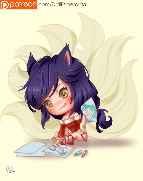 Tags: Anime, Didiesmeralda, League of Legends, Ahri, Drawing (Action), deviantART, Fanart, Fanart From DeviantART