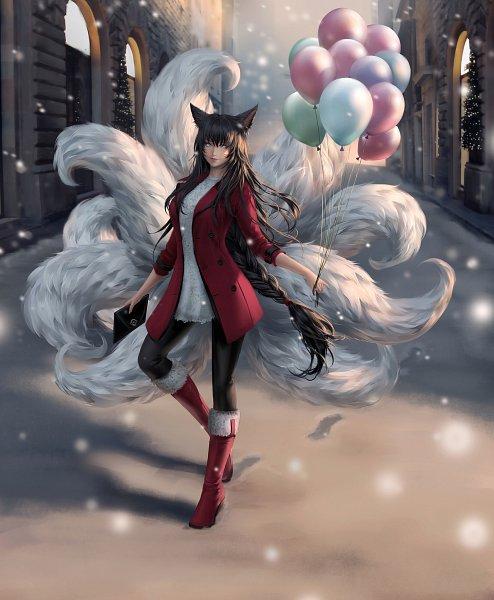 Tags: Anime, Chubymi, League of Legends, Ahri, Fanart, Fanart From DeviantART, deviantART