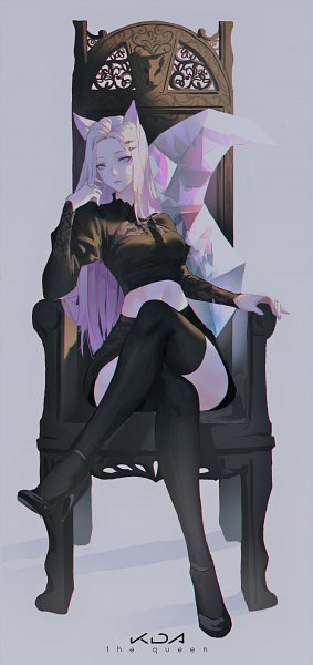 Tags: Anime, Pixiv Id 20944721, League of Legends, Ahri, K/DA
