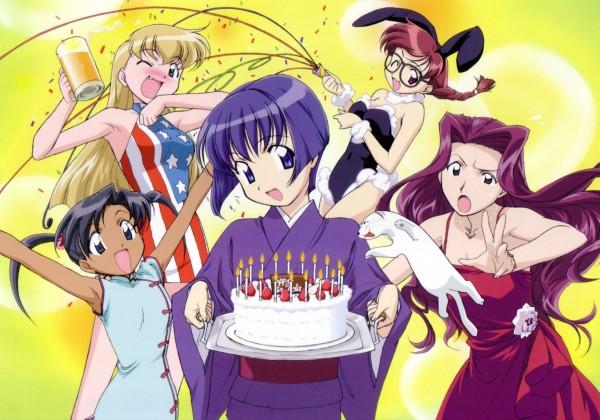 Tags: Anime, Kou Fumizuki, J.C.STAFF, Ai Yori Aoshi, Ai Yori Aoshi Visual Collection, Minazuki Chika, Kagurazaki Miyabi, Tina Foster, Minazuki Taeko, Sakuraba Aoi, Official Art