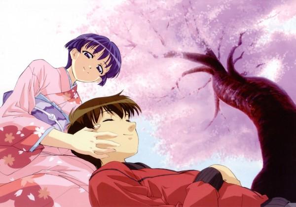 Tags: Anime, Kou Fumizuki, J.C.STAFF, Ai Yori Aoshi, Ai Yori Aoshi Visual Collection, Sakuraba Aoi, Hanabishi Kaoru, Official Art