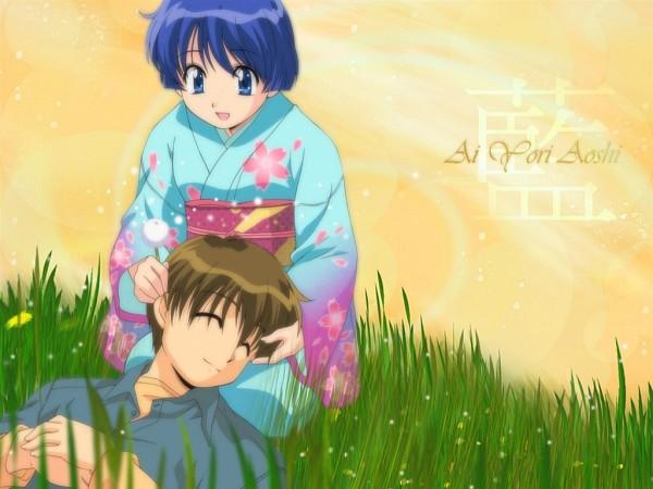 Tags: Anime, Ai Yori Aoshi, Hanabishi Kaoru, Sakuraba Aoi, Wallpaper