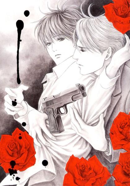 Tags: Anime, Honma Akira, Ai ga Kami wo Korosu Toki, Ray (A Love That Conquers Gods), Takeru (A Love That Conquers Gods), Official Art, A Love That Conquers Gods