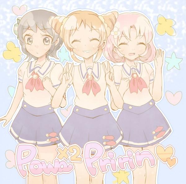 Tags: Anime, Pixiv Id 4631220, Aikatsu!, Kamiya Shion, Arisugawa Otome, Kitaouji Sakura, Double V, Pixiv, Fanart, Fanart From Pixiv