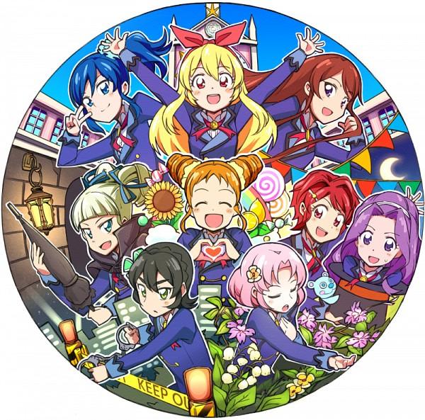 Tags: Anime, Pixiv Id 4377, Aikatsu!, Kamiya Shion, Hoshimiya Ichigo, Arisugawa Otome, Ichinose Kaede, Kanzaki Mizuki, Kitaouji Sakura, Shibuki Ran, Toudou Yurika, Kiriya Aoi, Crime Scene Tape