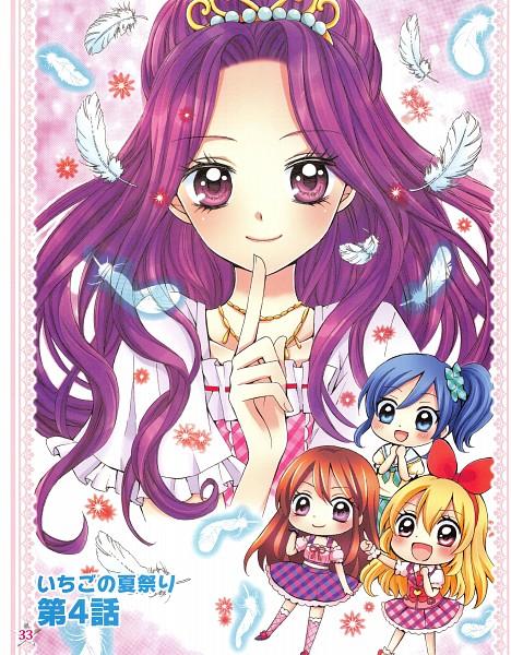 Tags: Anime, Ooka Saori, Aikatsu!, Shibuki Ran, Kiriya Aoi, Hoshimiya Ichigo, Kanzaki Mizuki, Manga Color, Official Art, Scan