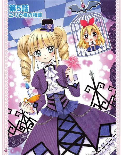 Tags: Anime, Ooka Saori, Aikatsu!, Toudou Yurika, Hoshimiya Ichigo, Blue Gem, Official Art, Scan, Manga Color