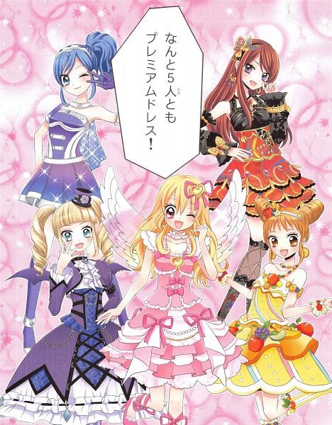 Tags: Anime, Ooka Saori, Aikatsu!, Arisugawa Otome, Shibuki Ran, Kiriya Aoi, Hoshimiya Ichigo, Toudou Yurika, Manga Color, Official Art, Scan