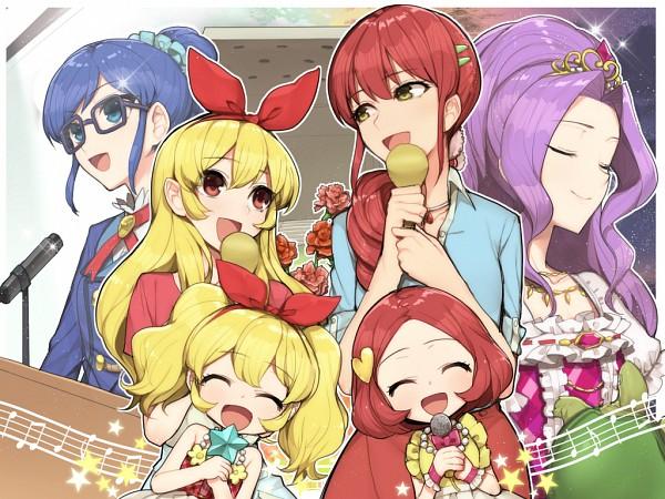 Tags: Anime, Hitoto, Aikatsu!, Hoshimiya Ichigo, Hoshimiya Ringo, Kanzaki Mizuki, Kiriya Aoi, Spatula, Music Staff, Wallpaper, Twitter, Fanart