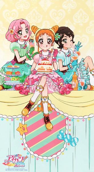 Tags: Anime, Ishikawa Kayoko, Aikatsu!, Kitaouji Sakura, Kamiya Shion, Arisugawa Otome, ;P, Official Art, Mobile Wallpaper