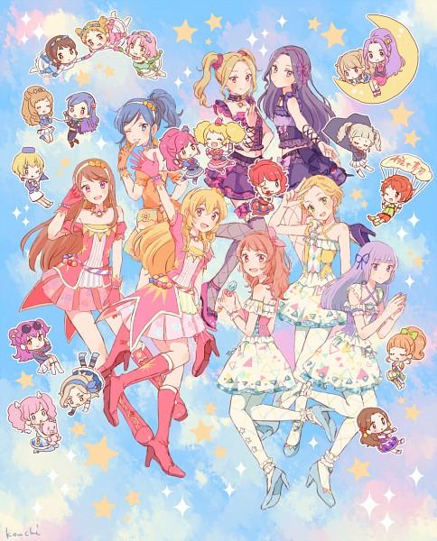 Tags: Anime, Pixiv Id 909811, Aikatsu!, Oozora Akari, Kurisu Kokone, Hoshimiya Ichigo, Ichinose Kaede, Shinjou Hinaki, Minowa Hikari, Himesato Maria, Kurosawa Rin, Kitaouji Sakura, Hikami Sumire