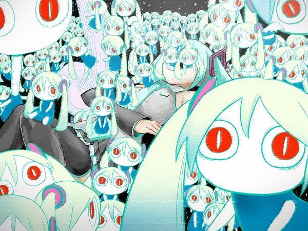 Tags: Anime, Pinocchio-P, VOCALOID, Hatsune Miku, Aimaina