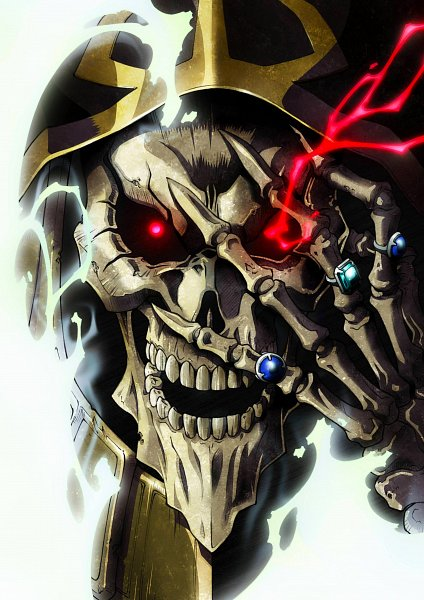 Tags: Anime, Overlord, Ainz Ooal Gown, Official Art, Scan