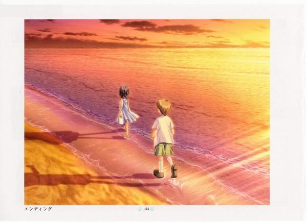 Tags: Anime, KEY (Studio), Air Visual Illlustration Book, AIR, Boy (AIR), Girl (AIR)