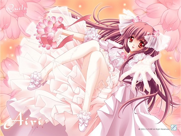 Tags: Anime, CARNELIAN, Quilt (VN), Airi (Quilt), Gown, Wallpaper
