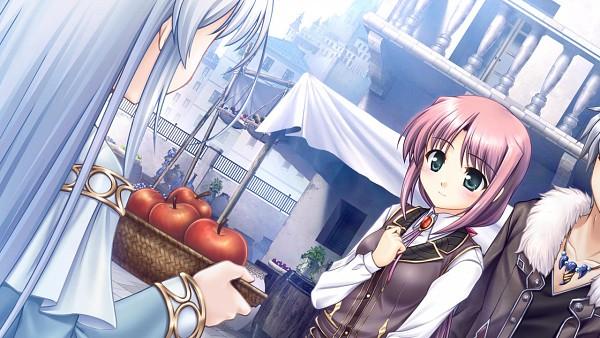 Tags: Anime, Bekkankou, August (Studio), Aiyoku no Eustia, Lavria, Caim Astraea, Saint Irene, Wallpaper, CG Art