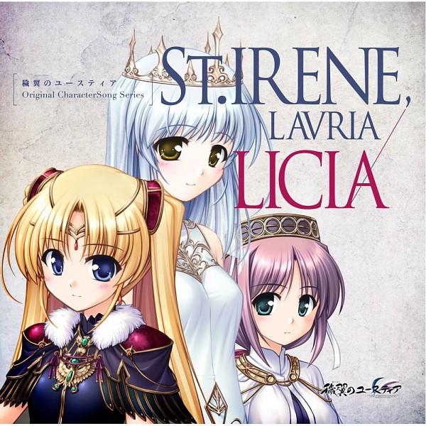 Tags: Anime, Bekkankou, August (Studio), Aiyoku no Eustia, Licia De Novus Yurii, Saint Irene, Lavria, CD (Source), Official Art