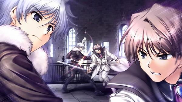 Tags: Anime, Bekkankou, August (Studio), Aiyoku no Eustia, Caim Astraea, Lucius dis Mireille, CG Art, Wallpaper