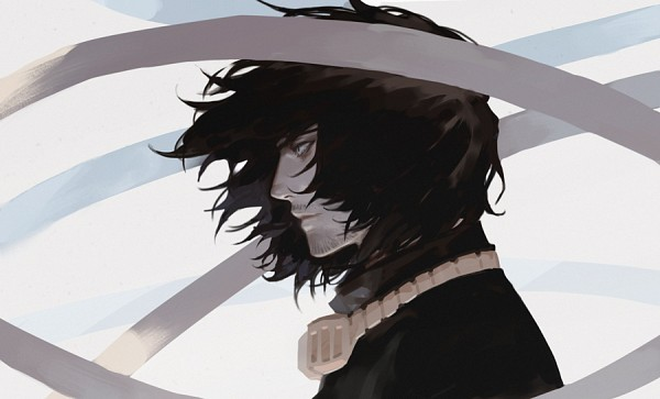 Tags: Anime, Alle Page, Boku no Hero Academia, Aizawa Shouta, Floating Scarf, Stubble, PNG Conversion, Fanart