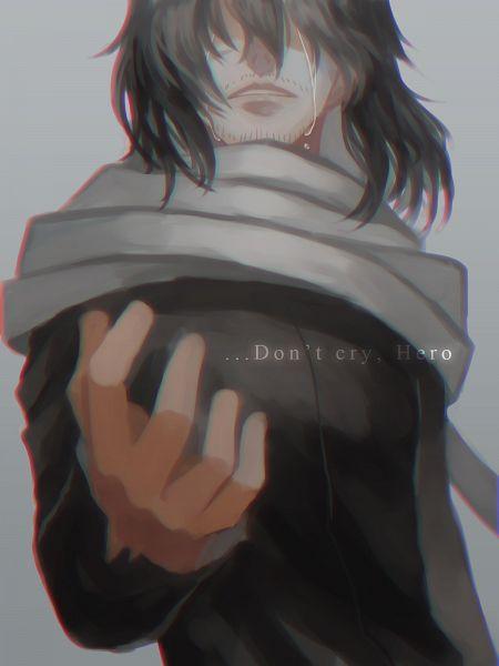 Tags: Anime, Pixiv Id 3786991, Boku no Hero Academia, Aizawa Shouta, Gray, Silhouette Face, Pixiv, Wallpaper, Fanart From Pixiv, Fanart