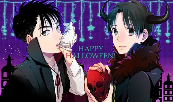 Tags: Anime, Pixiv Id 8652120, Aka-chan to Boku, Enoki Takuya, Fujii Akihiro, Biting Gloves, Vampire Costume, Fanart From Pixiv, Pixiv, Fanart, Baby And Me