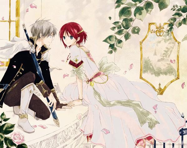 Tags: Anime, Akizuki Sorata, Akagami no Shirayukihime, Shirayuki (Akagami no Shirayukihime), Zen Wistalia, Official Art