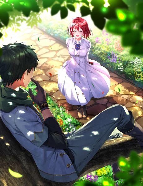 Tags: Anime, Swordsouls, Akagami no Shirayukihime, Obi (Akagami no Shirayukihime), Shirayuki (Akagami no Shirayukihime), Pixiv, Fanart From Pixiv, Fanart, PNG Conversion