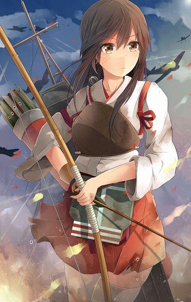 Tags: Anime, Pixiv Id 5703221, Kantai Collection, Akagi (Kantai Collection), PNG Conversion, Mobile Wallpaper