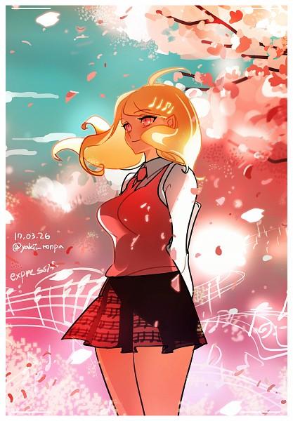 Tags: Anime, Haun, New Danganronpa V3, Akamatsu Kaede, PNG Conversion, Mobile Wallpaper, Fanart, Twitter