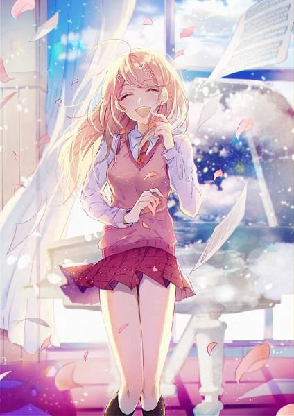 Tags: Anime, Pixiv Id 11729207, New Danganronpa V3, Akamatsu Kaede, Orange Neckwear, Fanart From Pixiv, PNG Conversion, Mobile Wallpaper, Pixiv, Fanart