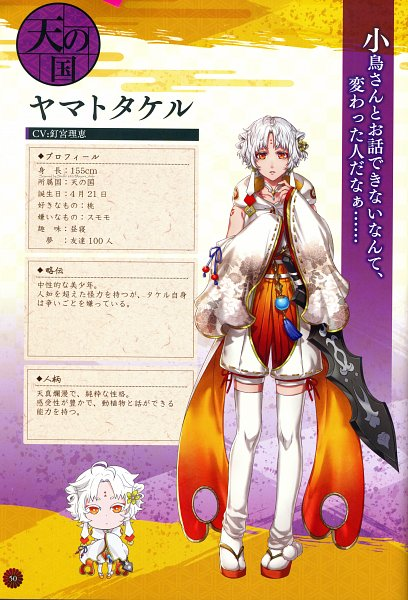 Tags: Anime, GCREST, Akane Sasu Sekai de Kimi to Utau, Puffy Shorts, Official Art, Character Request, Self Scanned, Official Character Information, Scan, Character Profile