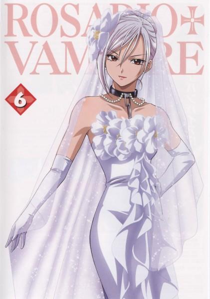 Tags: Anime, Rosario + Vampire, Akashiya Moka, Akashiya Moka (Vampire), Scan, DVD (Source), Mobile Wallpaper, Official Art