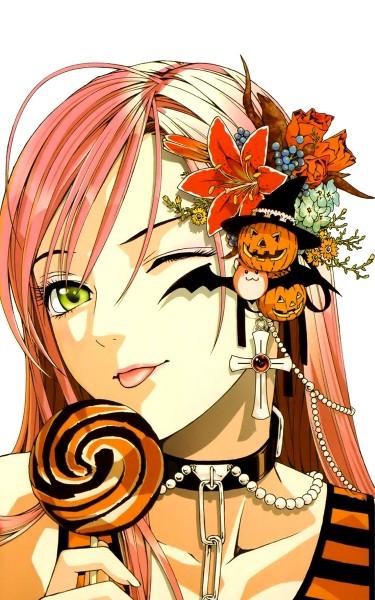 Tags: Anime, Ikeda Akihisa, Rosario + Vampire, Akashiya Moka, ;P, Mobile Wallpaper