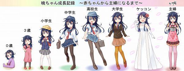 Tags: Anime, Gurande (G-Size), Kantai Collection, Akatsuki (Kantai Collection), Age Progression, PNG Conversion