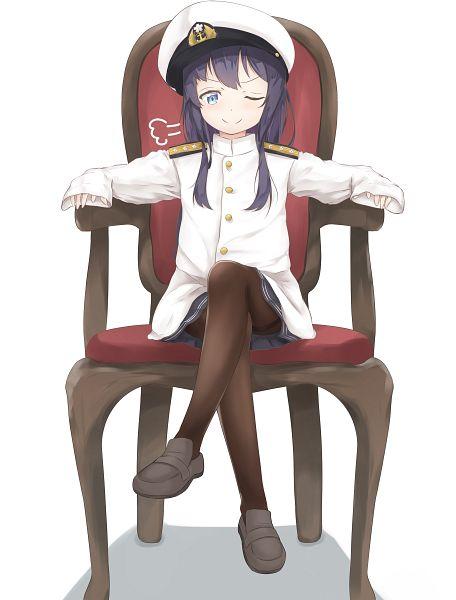 Tags: Anime, Pixiv Id 5302899, Kantai Collection, Akatsuki (Kantai Collection), Oversized Clothes, Admiral (Kantai Collection) (Cosplay), Borrowed Clothes