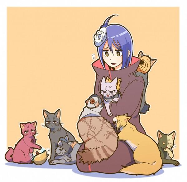 Tags: Anime, Mackerel (Artist), NARUTO, Konan, Sasori, Uchiha Itachi, Deidara, Hoshigaki Kisame, Tobi, Zetsu, Hidan, Kakuzu, Playing