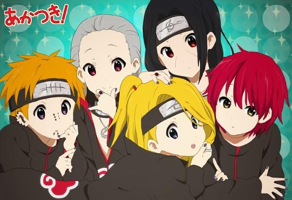 Tags: Anime, Pixiv Id 1933784, NARUTO, Hidan, Sasori, Pein, Deidara, Uchiha Itachi, K-ON! (Parody), Slicked Back Hair, Fanart From Pixiv, K-ON! Character Design, Pixiv