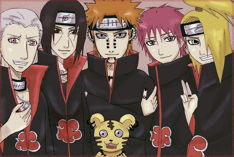 Tags: Anime, NARUTO, NARUTO: SHIPPŪDEN, Sasori, Tendou (Pein), Deidara, Pein, Uchiha Itachi, Hidan, Akatsuki (NARUTO)